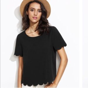 Topshop Tops - Top shop scalloped shirt